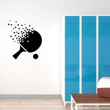 Vinyl Decal Wall Sticker Sport Ping-Pong Racket Table Tennis Decor Unique Gift (g066)