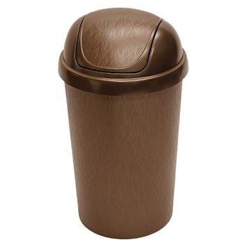 Hefty 10.5 Gal. Swing Lid Waste Can with Decorative Texture - Bronze