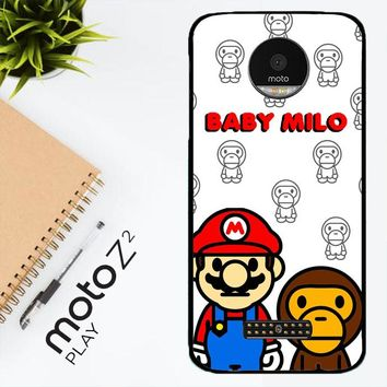 Baby Milo And Mario W4812 Motorola Moto Z2 Play Case