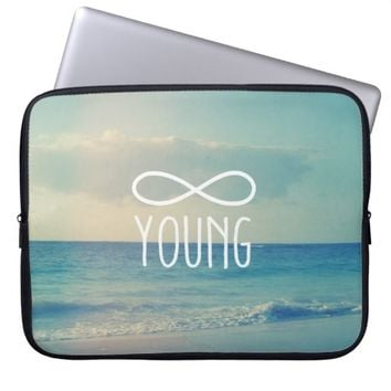 Cool Vintage Sea Sky Photo Infinity Forever Young Laptop Computer Sleeves