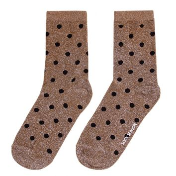 Polka Party Glitter Socks | Gold