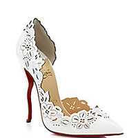 Christian Louboutin - Beloved Laser-Cut Patent Leather Pumps - Saks Fifth Avenue Mobile