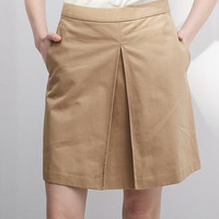 High Waist Khaki Mini Skirt