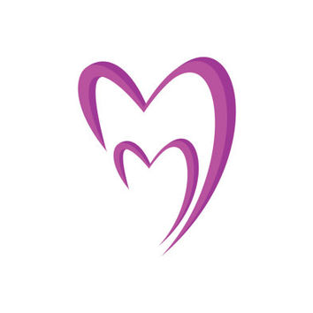 Valentine Two Hearts Logo Design Vector for Your Future Business