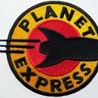 Futurama Cartoon PLANET EXPRESS Logo Embroidered PATCH