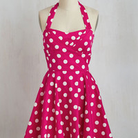 Pinup Sleeveless Fit & Flare Traveling Cake Pop Truck Dress in Pink