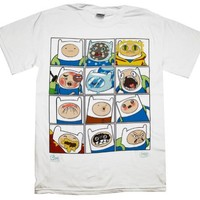 Adventure Time - Faces of Finn T-Shirt