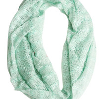 Lightweight Sequin Infinity Scarf | Wet Seal