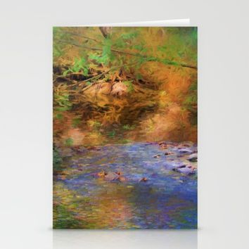 Fantasy Lake Stream Stationery Cards by Theresa Campbell D'August Art