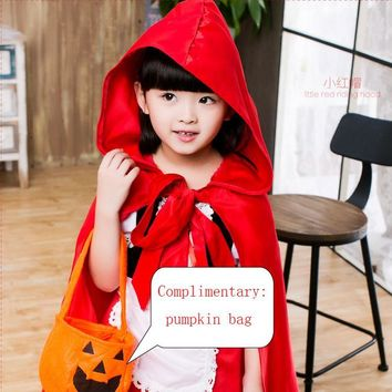 Costume costume party costumes dress up baby girl's baby cosplay little red riding hood dress