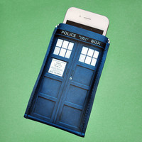 iPhone Case British Blue Police Sci Fi Box iPhone by Coolbeans717
