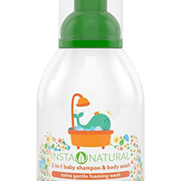 InstaNatural Baby Shampoo & Body Wash - With Aloe Vera, Vitamin E, Lavender Oil and Fruit Extracts - Soothing 2 in 1 Formula for Smooth Skin & Soft Hair - 14 OZ