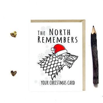 Game of Thrones The North Remembers Your Card Funny Christmas Card Holiday Card