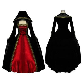 Women's Renaissance Ball Gown Gothic Medieval Dress Custom Costume