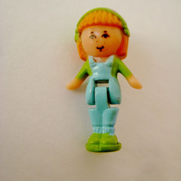 Vintage Polly Pocket Midge Figure Replacement Toy from Midge in her Necklace 1990 Miniature Round Base Polly Figure Clean USED