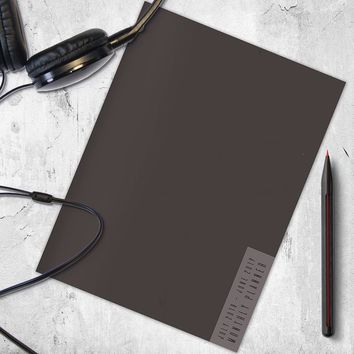 Charcoal Gray Planner