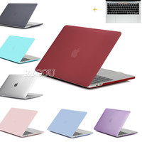 Clear/Matte Hard Case for New Macbook Pro 13 15 inch A1706 A1708 A1707 Caso for Macbook Pro 13 15 A1278 A1286 Case Para Portatil