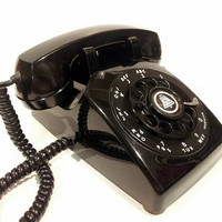 Working - Black Rotary Phone Telephone 1954
