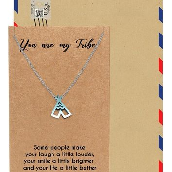 Ingrid Teepee Best Friend Necklace, Jewelry Gifts, Best Friend Gifts and Greeting Card