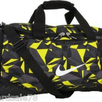NIKE ELECTRO LIME TEAM TRAINING MAX AIR DUFFEL BAG DUFFLE GYM SPORTS HOT GRAPHIC