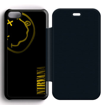 Nirvana Art Leather Wallet Flip Case iPhone 5C