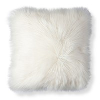 Threshold™ White Fur Decorative Pillow