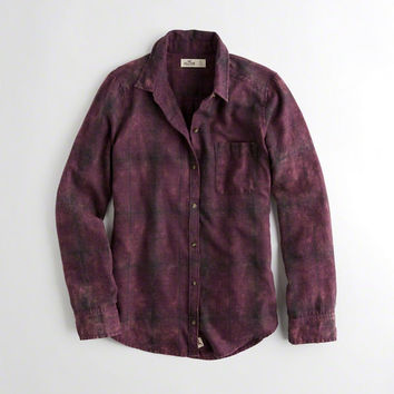 Girls Acid Wash Oversized Flannel Shirt | Girls New Arrivals | HollisterCo.com