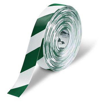 """2"""" White Floor Tape with Green Chevrons - Safety Floor Tape"""