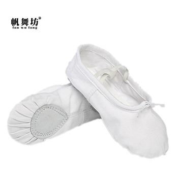 Fashion Online Fan Wu Fang White Cloth Head Dance Shoes Ballet Shoes Soft Outsole Practice Shoes Yoga Shoes Slippers According The Cm To Buy