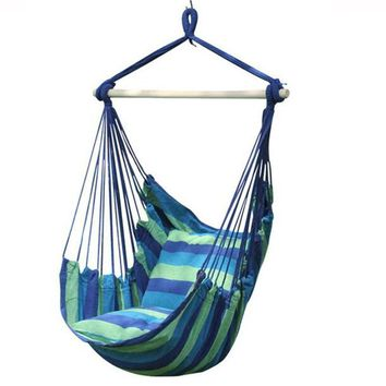 Outdoor and Indoor Thicken Canvas kids hammock swing chair with 2 Cushions