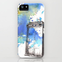 Doctor Who Tardis iPhone Case by Idillard | Society6