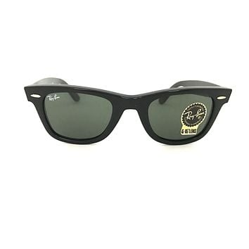 Cheap Ray-Ban RB2140 Wayfarer 901 50-54mm Black Frame, Green Classic G-15 Lens outlet