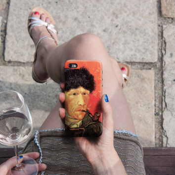 Selfportrait - Van Gogh iPhone Case 6, 6S, 6 Plus, 4S, 5S, LG, Galaxy, Sony, HTC, Huawei. Art Painting. Gift Idea. Gift for him her 1