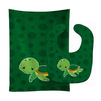 Nautical Turtle Baby Bib & Burp Cloth BB8900STBU