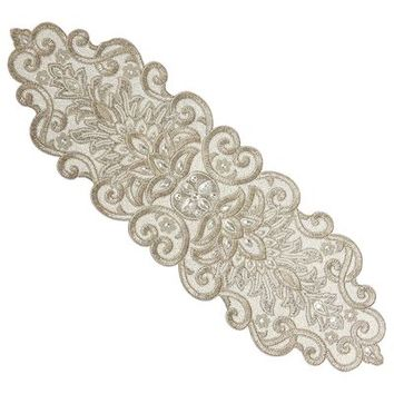 Beaded Glitz Table Runner