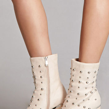 Studded Faux Suede Boots