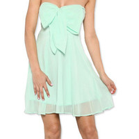 Mint Bow Dress | Studio 706 Boutique