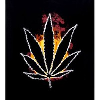 Sunshine Joy Burning Marijuana Pot Leaf Tapestry - 60x90 Inches - Beach Sheet - Hanging Wall Art