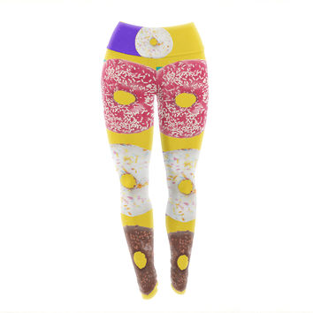 "Danny Ivan ""Donuts"" Yoga Leggings"