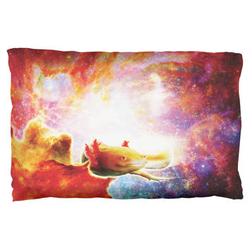 Galaxy Axolotl Mexican Salamander Pillow Case