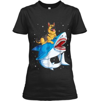 German Shepherd Shark Kids Men Space Galaxy Jawsome Ladies Custom