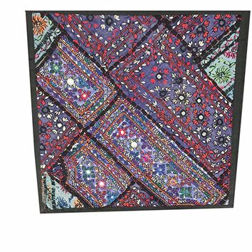 Indian Ethnic Pillow Cover Mirror Work HAND Embroidered Tapestry (18x18inch): Amazon.ca: Home & Kitchen