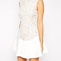 Stylestalker Island Animal Lace Dress With Flippy Hem
