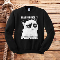 i had fun once it was awful sweater unisex adults