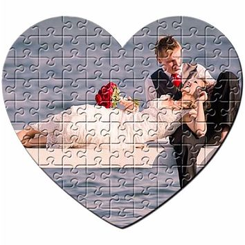 """Engagement Personalized Puzzle or Ask """"Marry Me!""""  Unique Personalized gift, Heart Shaped Jigsaw Puzzle"""