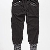 Uncle Ralph Elephant Print Mens Jogger Pants Black/Grey  In Sizes