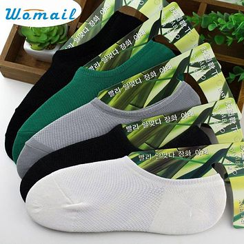 Womail Newly Design 5 Pairs Bamboo Fiber Socks Liner Low Cut Net Boat Socks Sep17 Drop Shipping