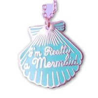 "Cotton Candy ""I'm Really A Mermaid"" Necklace"