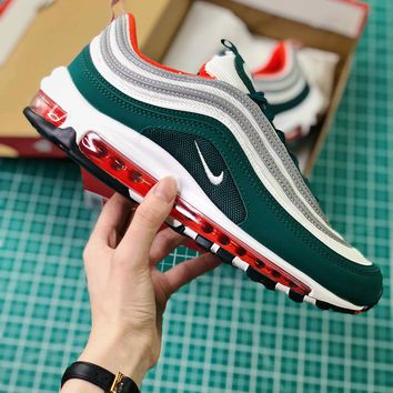 Nike Air Max 97 Green Sport Running Shoes - Best Online Sale