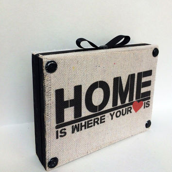 Home Is Where The Heart Is Decorative Wooden Shelf Sitter